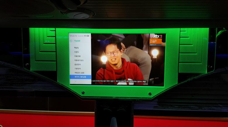 차량용 벽면형 TV